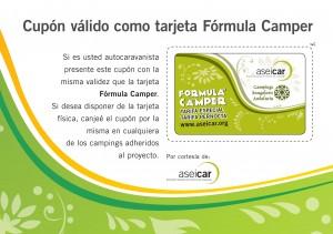 cupon tarjeta formula camper